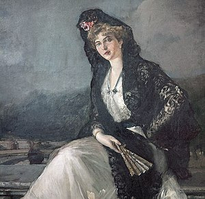 Victoria Eugenie of Battenberg - Victoria Eugenie dressed in Andalusian or Castilian fashion, as painted by Joaquín Sorolla
