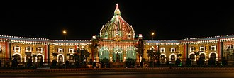 Uttar Pradesh Legislature (Vidhan Bhawan) - Image: Vidhan sabha (at night)