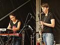 Vienna 2013-08-31 VolksstimmeFest 229 möström, Elise Mory (l), Susanna Gartmayer.jpg