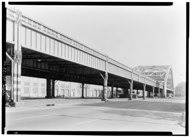 File:View of Canal St. Bridge, East side of highway looking N. - West Side Highway, New York, New York County, NY HAER NY,31-NEYO,88-10.tif