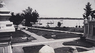 Museum of Cham Sculpture - Early 20th-century view of the Han River from the museum site, showing its then-peaceful situation.