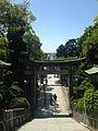 View of toriis and sando of Miyajidake Shrine.jpg