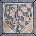 Vilsbiburg, Wappen im Pflaster des Stadtplatzes, 1.jpeg