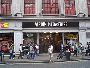 Virgin Megastores - Former Virgin Megastore in Oxford Street – the chain's flagship shop.