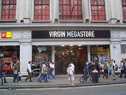 Former Virgin Megastore in Oxford Street – the chain's flagship shop (2005)