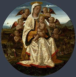 Virgin and child with cherubim london ng