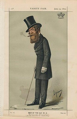 """Thomas Jones, 7th Viscount Ranelagh - """"He has succeeded in volunteering"""". Ranelagh depicted in Vanity Fair."""