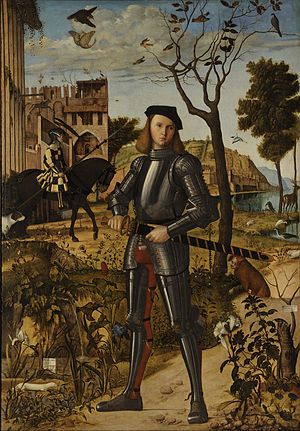 Young Knight in a Landscape - Image: Vittore Carpaccio Young Knight in a Landscape Google Art Project