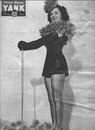 Vivian Blaine - Pin-up photo of Vivian Blaine for the September 1, 1944 issue of Yank, the Army Weekly.
