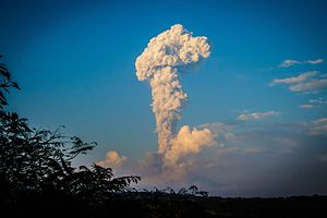 Decade Volcanoes - Colima Volcano eruption column, December 2016
