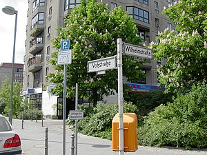 Voßstraße - Site of the former Reich Chancellery at the corner of Voßstraße and Wilhelmstrasse