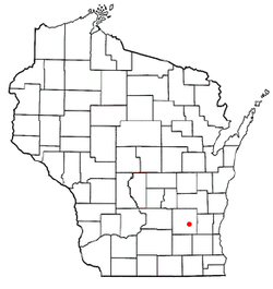 Location of Hustisford town, Wisconsin