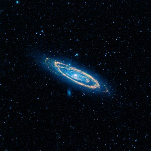 Andromeda Galaxy - The Andromeda Galaxy as seen by NASA's Wide-field Infrared Survey Explorer.