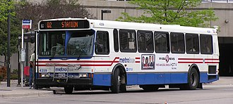 Metrobus (Washington, D.C.) - An 1997 Orion V serving route Q2