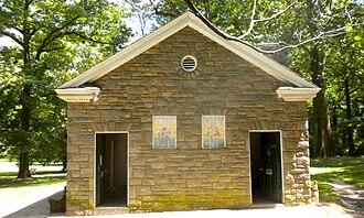 Pastorius Park - Works Progress Administration building in the park, built 1937