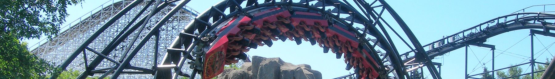 WV banner Far North suburbs Demon rollercoaster at Six Flags Great America.jpg