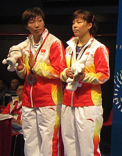 Wang Xiaoli Badminton player