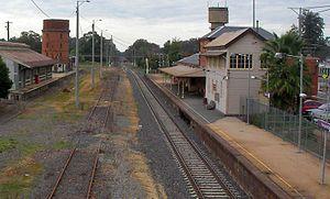 Wangaratta railway station - Northbound view in August 2011