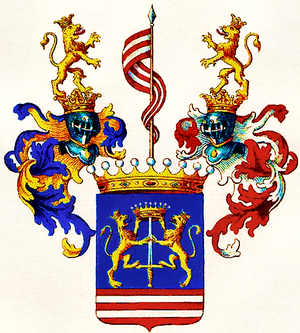 Keglević - Arms of the counts Keglevich von Buzin (after 1687)