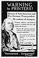 Warning to Printers! Beware of Anti-American and Pro-German Propagandists. Fred L. Packer.jpg