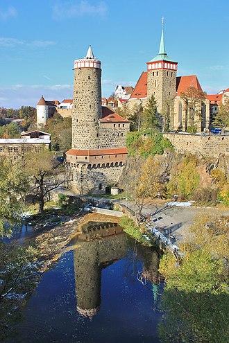 Bautzen - Old Waterworks and Church of St. Michael