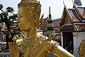 Wat Phra Kaew, Statue of a Kinnara, Bangkok, Thailand.jpg