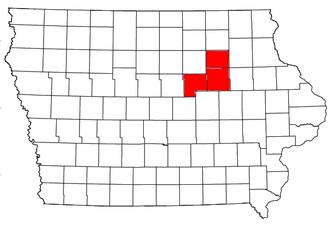 Waterloo – Cedar Falls metropolitan area - Location of the Waterloo-Cedar Falls Metropolitan Statistical Area in Iowa