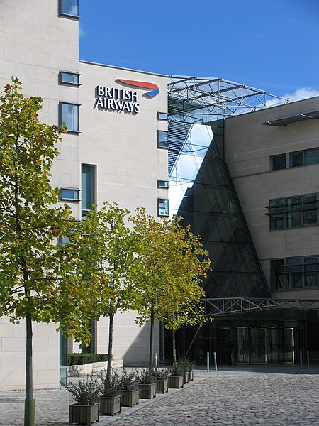 British Airlines logo on their corporate headquarters