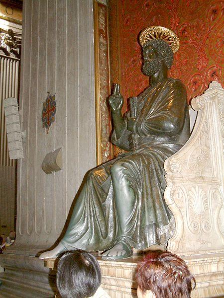 Plik:Watykan bazylika rzezba św Piotr.JPG