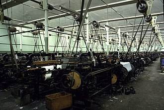 Todmorden - A typical weaving shed at Queen Street Mill Textile Museum, Burnley