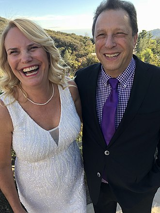 Charles Dennis - Ulrika Vingsbo and Dennis at their wedding, December 2017