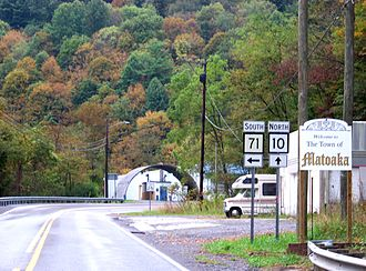 Matoaka, West Virginia - Welcome sign at the entrance of town