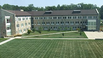 "Goucher College - Welsh Hall, also known as ""the T"""