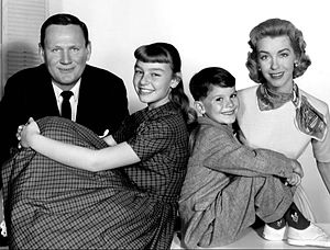Patty McCormack - The cast of Peck's Bad Girl: From left: Wendell Corey, McCormack, Ray Farrell, Marsha Hunt