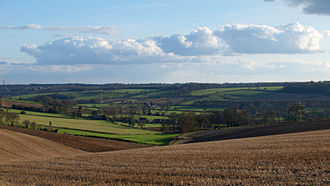 High Speed 2 - The HS2 route will pass through areas such as this landscape at Wendover Dean in the Chiltern Hills