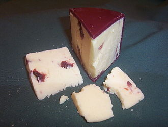 Wensleydale cheese - Wensleydale with cranberries