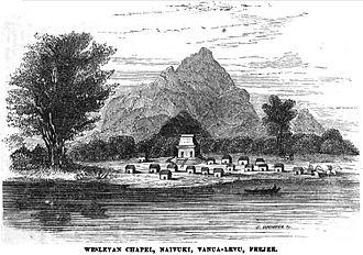 Vanua Levu - Image: Wesleyan Chapel, Naivuki, Vanua Levu, Feejee (September 1853, X, p.96)