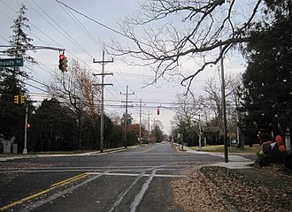 West Allenhurst, New Jersey - At the intersection of Corlies Avenue and Monmouth Road (CR 15)