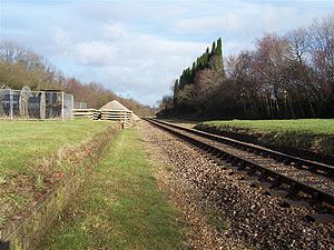 West Hoathly railway station - The station remains seen in early 2006