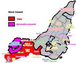 West Island Montreal Boroughs