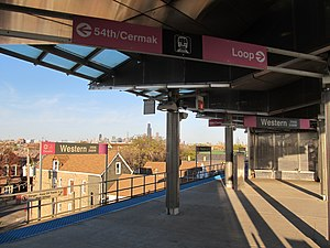 Western station (CTA Pink Line) - Image: Western CTA Pink Line Station