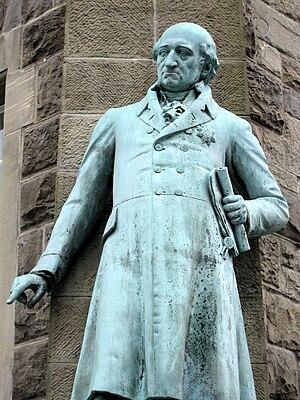 Heinrich Friedrich Karl vom und zum Stein - Statue of von Stein at the town hall in Wetter, Hesse