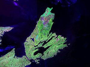 Cape Breton Island - NASA landsat photo of Cape Breton Island