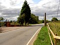 What remains of former railway crossing gate. - geograph.org.uk - 537324.jpg