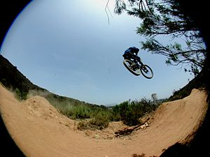 Freeride - Jumps are often incorporated into freeriding.