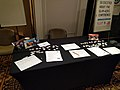 Wikipedia Asian Month table at Wikimania 2018.jpg