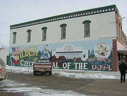 "A mural in Wilber depicting ""Czech Capital of the USA"""