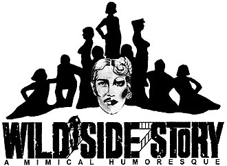 Wild Side Story - 2001 logo with silhouette from 1973 and drawing from 1976