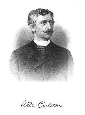 Will Carleton - Engraving of Will Carleton by Arthur Rice, 1890