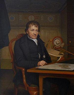 Eise Eisinga - Portrait by Willem Bartel van der Kooi (1827)